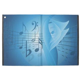 """iPad Pro 12.9"""" Case Musique dans le bleu"""