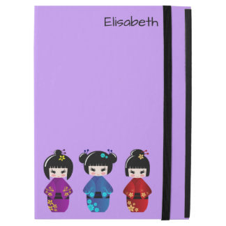 """iPad Pro 12.9"""" Case Nom mignon de bande dessinée de poupées de kokeshi"""