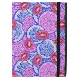 """iPad Pro 12.9"""" Case Pamplemousse de motif au néon et kiwis oranges"""