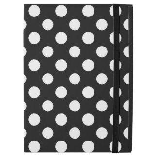 """iPad Pro 12.9"""" Case Pro cas de polka de point d'iPad noir et blanc de"""