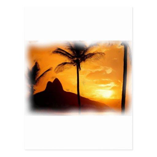 Ipanema, - Rio de Janeiro, - Brazil_Painting_oil Carte Postale