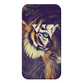 iPhone4 Hipster-Tiger-Case Étui iPhone 4