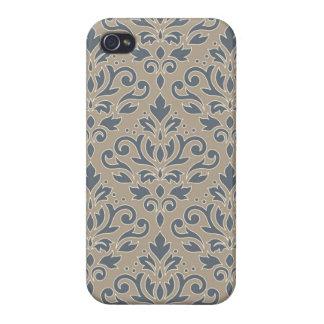 iPhone 4 Case Mettez en rouleau le sable crème de bleus