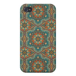 iPhone 4 Case Motif floral ethnique abstrait coloré de mandala