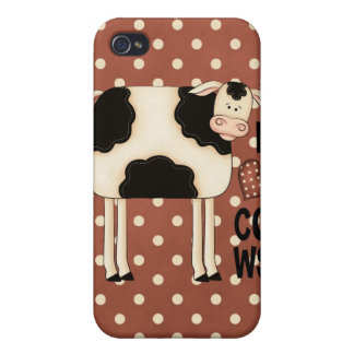 iPhone 4 de cas de Speck® Fitted™ de vaches à amou iPhone 4 Case
