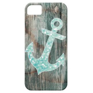 iPhone 5 Case Ancre nautique de parties scintillantes de Bokeh