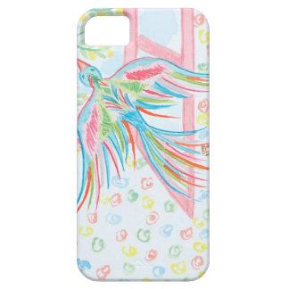 """iPhone 5 Case Aquarelle """"ouvrez la cage aux oiseaux"""""""