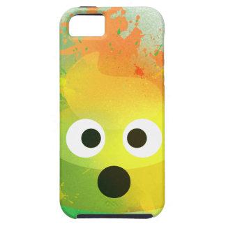iPhone 5 Case Art de peinture de jet de jaune de dunette d'Emoji