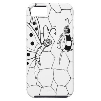 iPhone 5 Case Bande dessinée 8922 de papillon