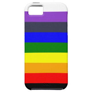 iPhone 5 Case Blanc pour noircir l'arc-en-ciel des espaces