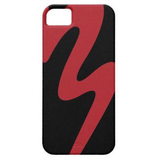 iPhone 5 Case Caisse rouge de téléphone portable de logo -