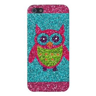 iPhone 5 Case Caisse verte rose turquoise de l'iPhone 5 de Bling