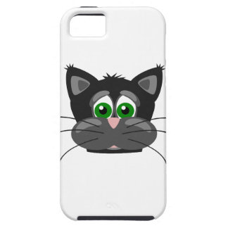 iPhone 5 Case Chat noir aux yeux verts