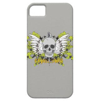 iPhone 5 Case Couche pour cellulaire avec sujet d'un crâne