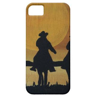 iPhone 5 Case cowboys et chevaux