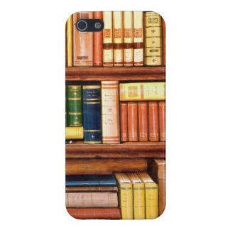 iPhone 5 Case Étagère vintage de bibliothèque de vieux livres