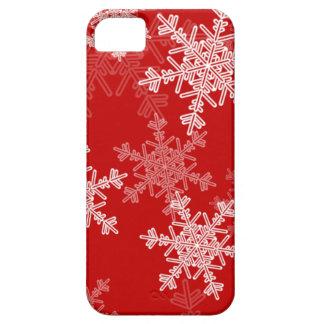 iPhone 5 Case Flocons de neige Girly de Noël rouge et blanc