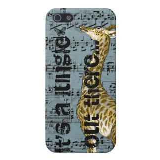 iPhone 5 Case Girafe c'est un cas de l'iPhone 5 de jungle là
