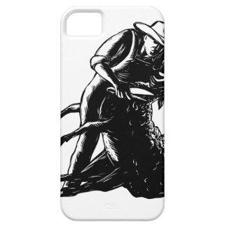 iPhone 5 Case Gravure sur bois de cisaillement en moutons de