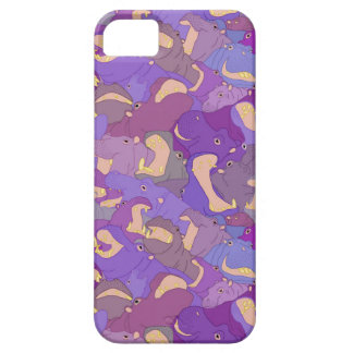 iPhone 5 Case Laughing Hippos - purple