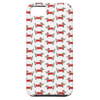 iPhone 5 Case Motif de teckel de Noël