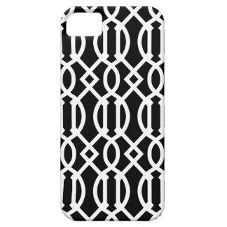iPhone 5 Case Motif moderne noir et blanc de treillis