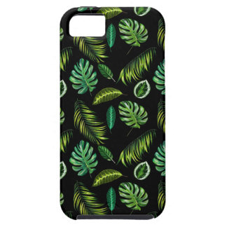 iPhone 5 Case Motif tropical Tiki floral fait main de feuille