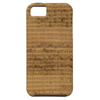 iPhone 5 Case Musique de feuille vintage par Johann Sebastian