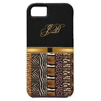 iPhone 5 Case noir d'or de cas de Coque-Compagnon d'iPhone