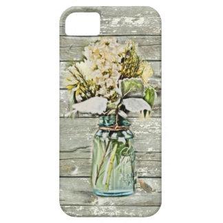 iPhone 5 Case Pays français en bois de grange de fleur sauvage