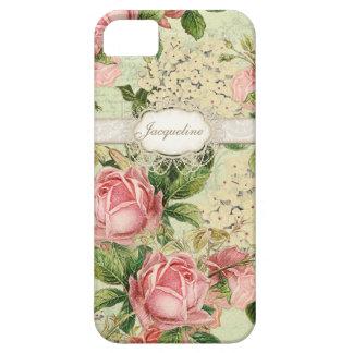 IPhone 5 - Hortensia rose de la dentelle n de l'an Coques Case-Mate iPhone 5