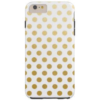 iPhone 6/6s de pois de feuille d'or plus, dur Coque Tough iPhone 6 Plus