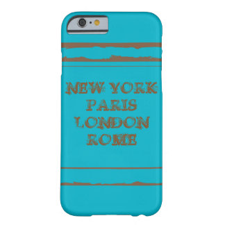 iPhone 6, Barely There NEW YORK PARIS LONDON ROME Coque Barely There iPhone 6