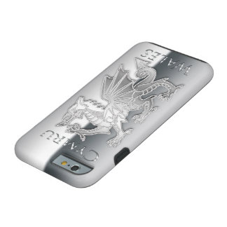 iPhone 6 d'effet d'argent de dragon de Gallois, Coque Tough iPhone 6