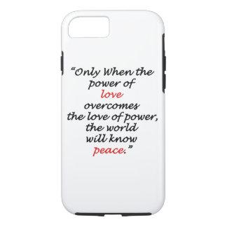 iPhone 7, cas dur d'Apple de citation de paix de Coque iPhone 7