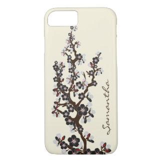 iPhone 7 (noir) de fleurs de cerisier Coque iPhone 7