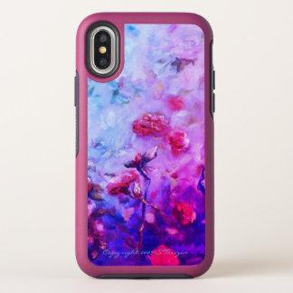 Iphone au néon X Otterbox de roses