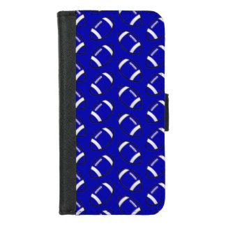 iPhone bleu du football 8/7 caisse de portefeuille