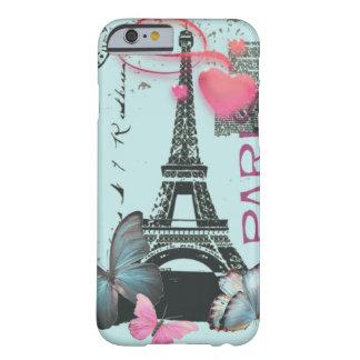 iPhone bleu vintage 6 de papillon de Paris EffielT