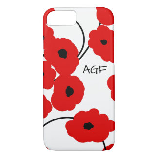 IPHONE CHIC 6 PAVOTS ROUGES ET NOIRS DE CASE_MOD COQUE iPhone 7