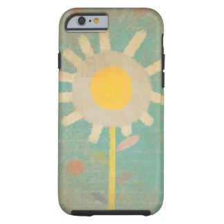 Iphone de caisse de fleur de turquoise vintage de