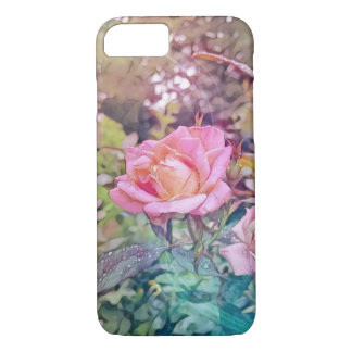 iPhone de cas de téléphone de rose de magie Coque iPhone 8/7