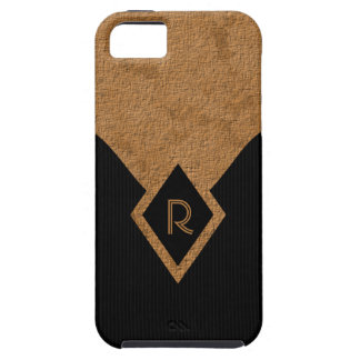 iPhone dur chic bronzage noir de monogramme 5 cas Coque iPhone 5 Case-Mate