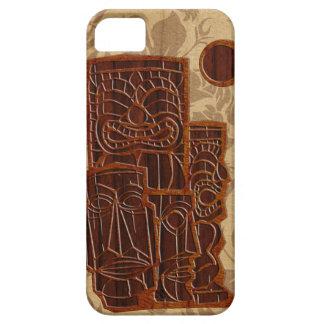 iPhone en bois de planche de surf de Koa Tiki Sun