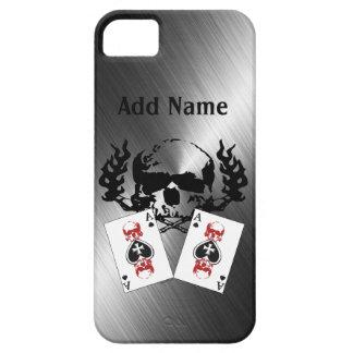 iPhone fait sur commande de chrome de crânes de ti Coque iPhone 5 Case-Mate