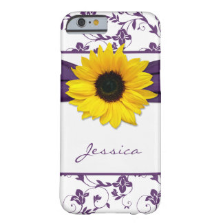 iPhone floral pourpre de tournesol de jaune de dam