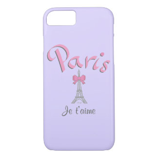 iPhone frais 7 de t'aime de Paris - de Je (je Coque iPhone 7