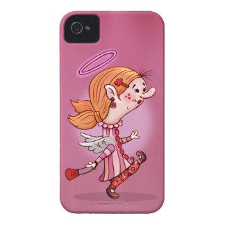 iPhone MIGNON 4 de BANDE DESSINÉE d'ANGE de LULU Coque iPhone 4 Case-Mate