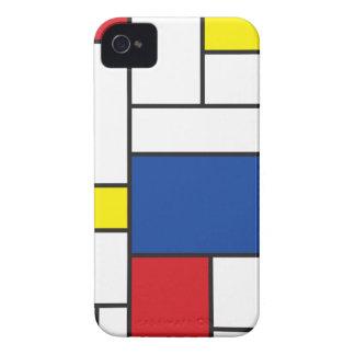 iPhone minimaliste 4 Casemate d'art de Mondrian de