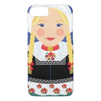 iPhone néerlandais de cas de Matryoshka de fille 5 Coque iPhone 7